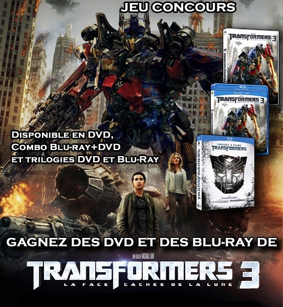  Jeu Concours : La trilogie Transformers en DVD et Blu Ray
