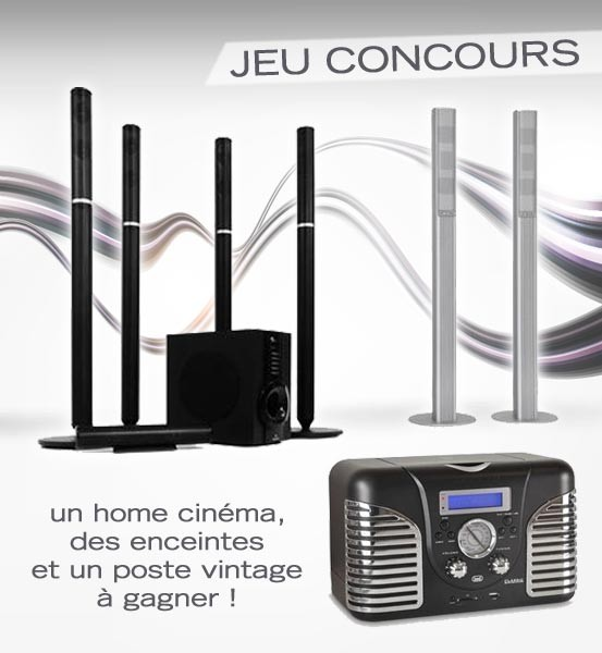  Jeu Concours : un Home Cinma et des enceintes  gagner