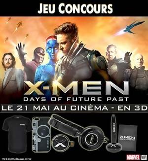 Jeu Concours : gagnez des Goodies du Film X-MEN Days of Future Past