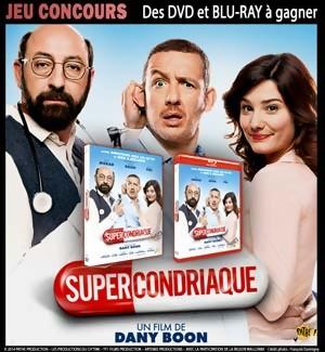 Jeu Concours : gagnez des DVD et Blu-Ray du film SUPERCONDRIAQUE