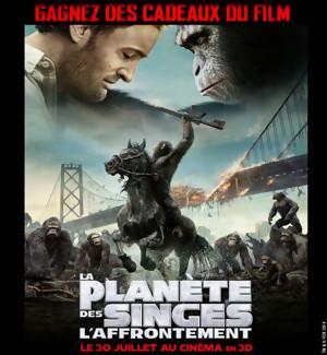 Jeu Concours : des goodies du film La Planète des Singes l'Affrontement à gagner