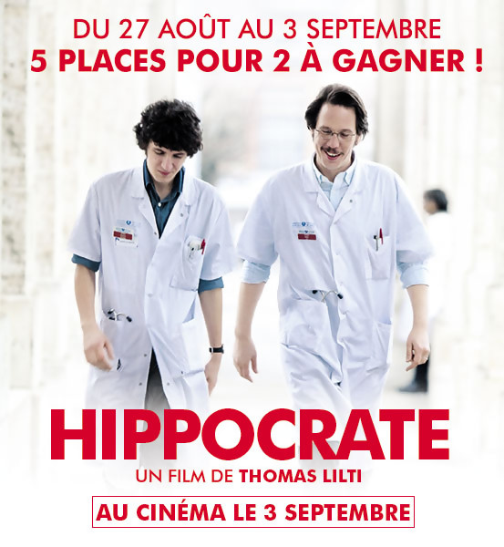 Jeu Concours : Gagnez vos places pour le film HIPPOCRATE !