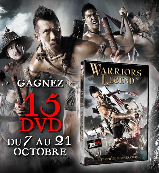 Jeu concours: WARRIORS LEGEND - 15 DVD à gagner !