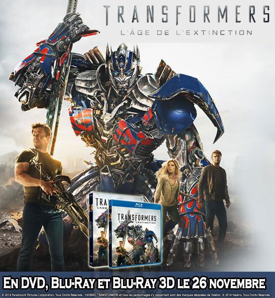 Jeu Concours : Gagnez des DVD et Blu-Ray de Transformers 4