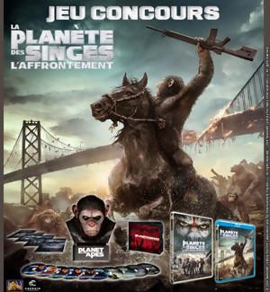 Gagnez des DVD et BLU-RAY du film La Planète des Singes l'Affrontement