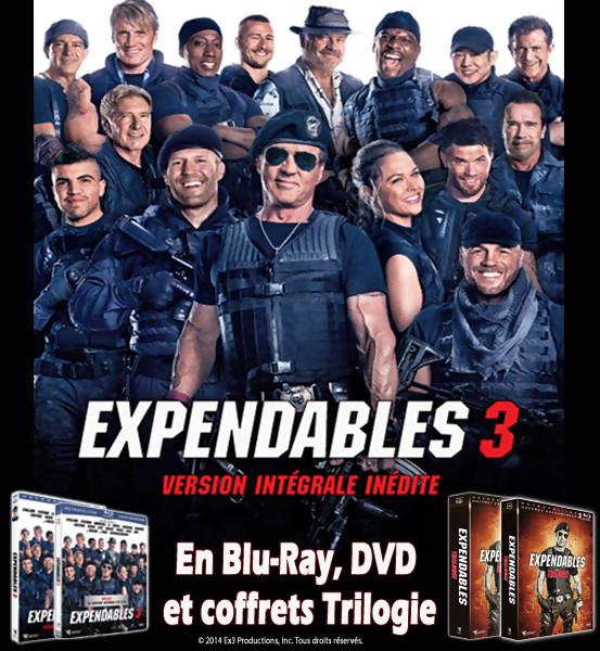 Jeu Concours : gagnez des DVD et Blu-Ray d'EXPENDABLES 3