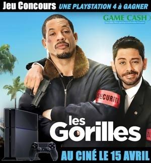 Jeu Concours : gagnez une PS4 avec le film LES GORILLES