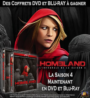 Jeu Concours : gagnez des coffrets DVD et BLU-RAY de Homeland Saison 4
