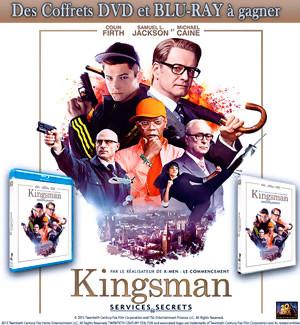 Jeu Concours : gagnez des DVD et BLU-RAY de KINGSMAN