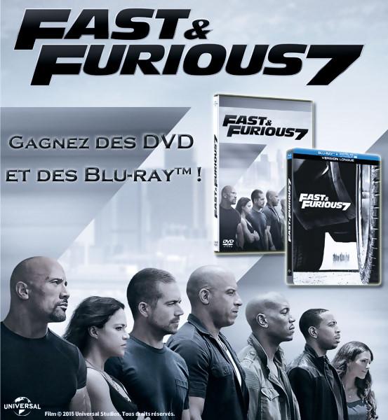 Jeu Concours : gagnez des DVD et BLU-RAY de FAST & FURIOUS 7
