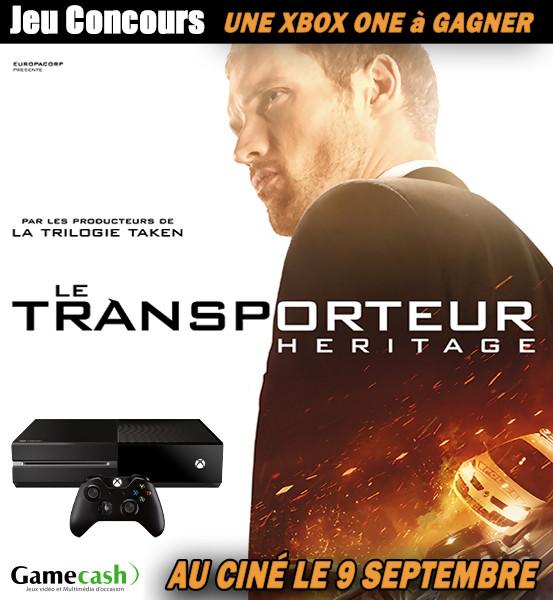 Gagnez une Xbox One avec le film LE TRANSPORTEUR Héritage [Concours]