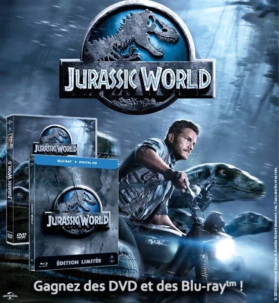 Gagnez des DVD et BLU-RAY du film JURASSIC WORLD [Concours]