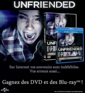 Gagnez des DVD et BLU-RAY du film UNFRIENDED [Concours]