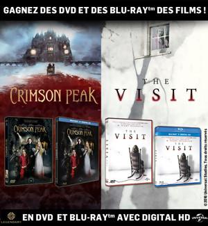 JEU CONCOURS : Gagnez des DVD & Blu-Ray de Crimson Peak et The Visit