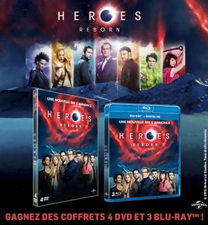 Jeu Concours : Gagnez des coffrets DVD et BLU-RAY de la série Heroes Reborn