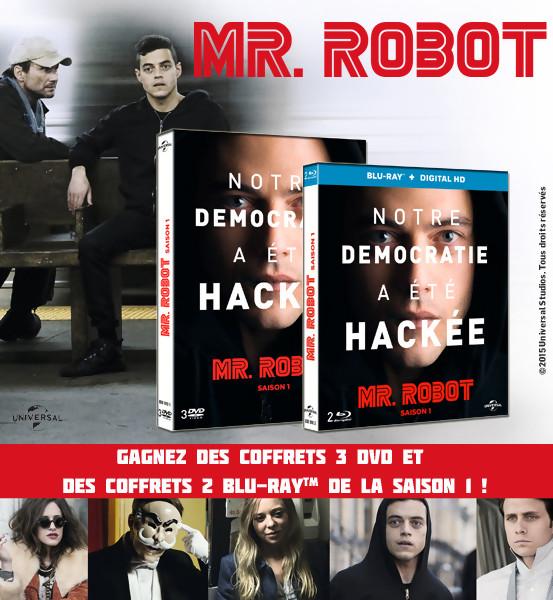 Jeu Concours : Gagnez des DVD et BLU-RAY de la série Mr Robot