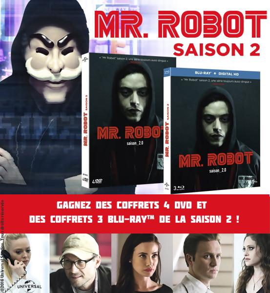 Jeu Concours : Gagnez des DVD et BLU-RAY de Mr Robot Saison 2
