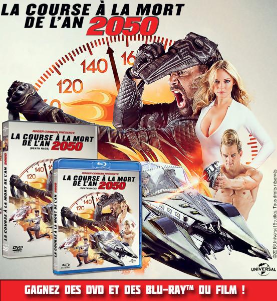 Gagnez des DVD & BLU-RAY de LA COURSE A LA MORT 2050 (Jeu Concours)