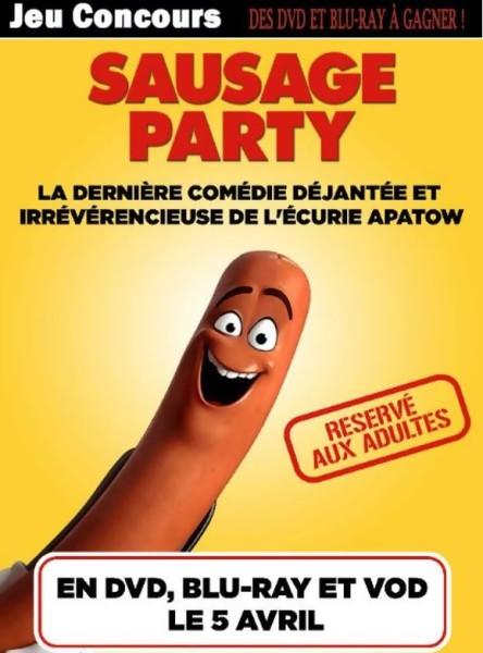 JEU CONCOURS SAUSAGE PARTY - gagnez des DVD & BLU-RAY