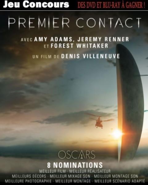JEU CONCOURS PREMIER CONTACT : gagnez des Blu-Ray & DVD