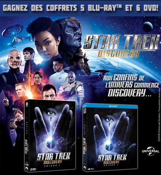 JEU CONCOURS STAR TREK DISCOVERY saison 1 : des DVD et BLu-Ray à gagner
