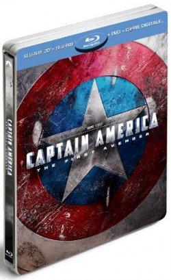 Coffret Captain America - Super Combo Blu-ray 3D + Blu-ray 2D + DVD + Copie digitale