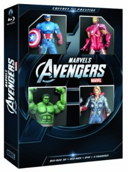 Avengers Coffret Blu Ray (3D + DVD + 4 figurines)
