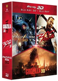 Godzilla + Pacific Rim + 300 2 - Blu Ray 3D