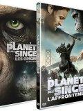 La Planète des Singes : L'Affrontement + Les Origines - DVD