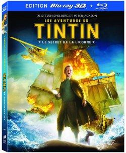 Tintin Le Secret de la Licorne Blu Ray 3D