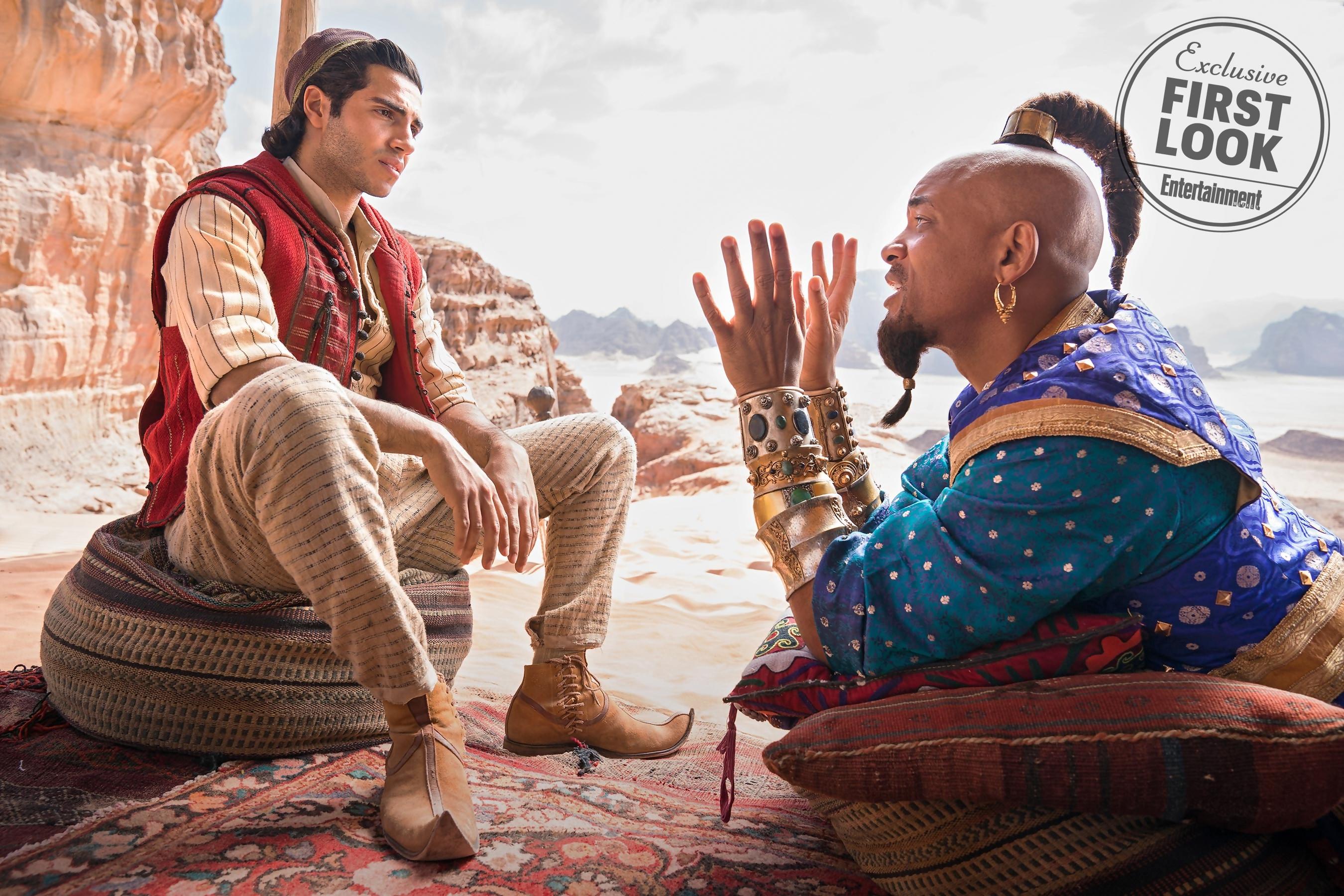 Aladdin : premières images surprenantes et intrigantes de Will Smith en Génie