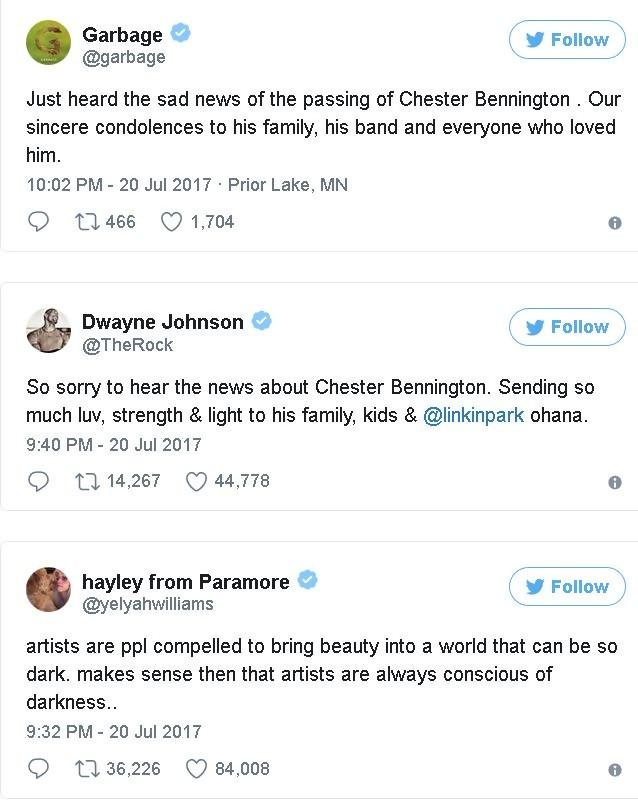 Mort de Chester Bennington. Linkin Park lui rend un hommage poignant