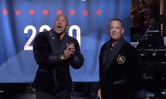 Dwayne Johnson se voit Président avec Tom Hanks !