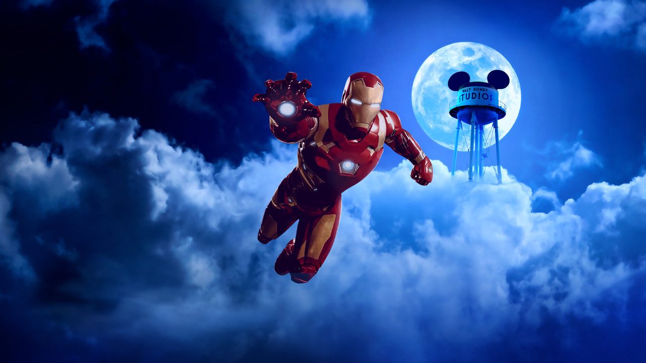 Une attraction marvel disneyland paris avec iron man et spider man - Image de iron man ...