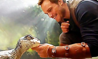 JURASSIC WORLD 2 : Chris Pratt et un bébé dino dans le teaser !