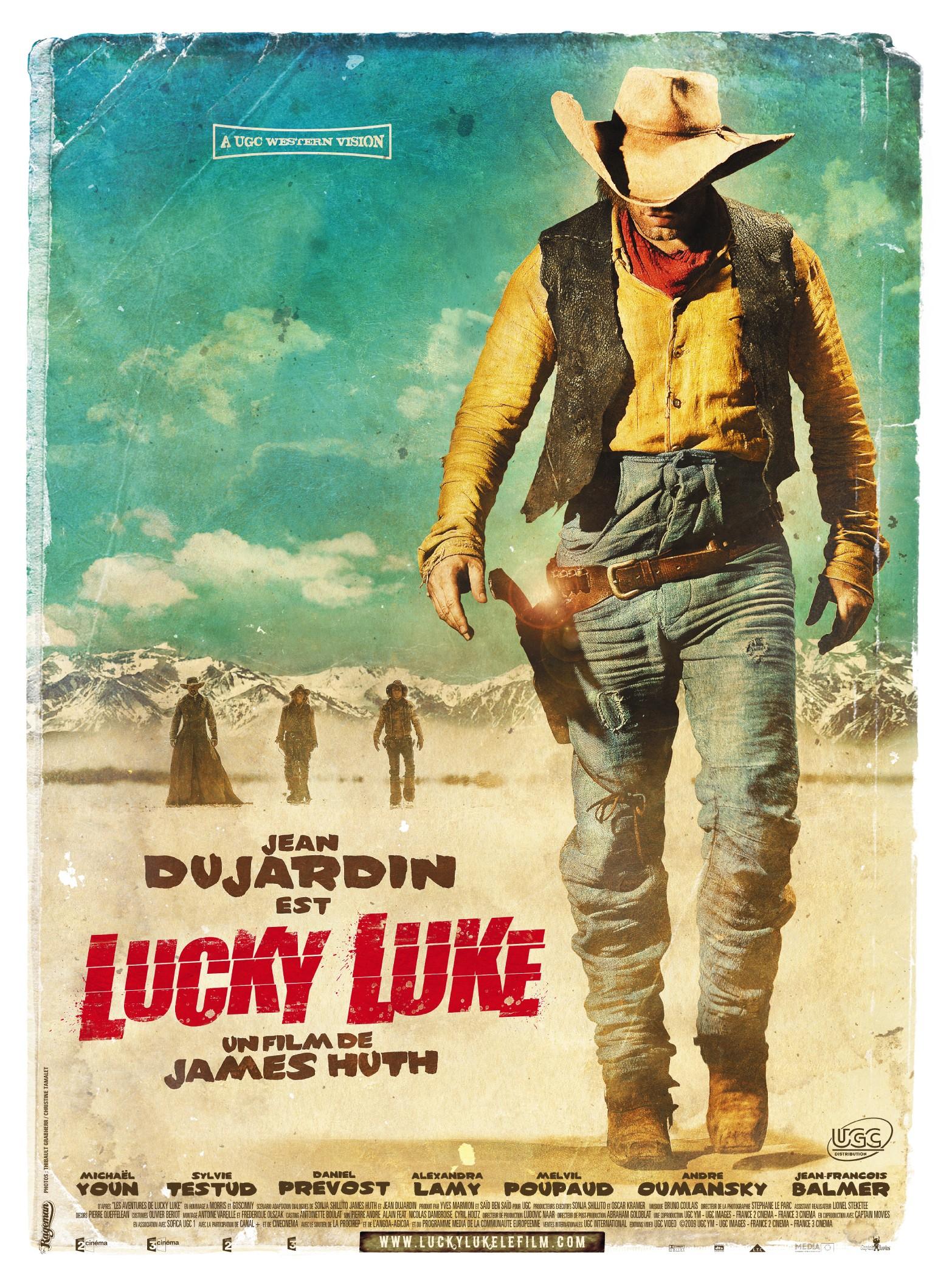 Nouvelle affiche de lucky luke avec jean dujardin for Dujardin dernier film
