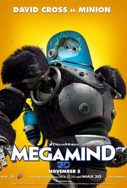 Quatre affiches de Megamind avec Will Ferrell et Brad Pitt