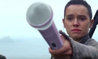 Star Wars : Luke Skywalker chante Céline Dion et fait pleurer Daisy Ridley