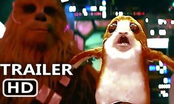 STAR WARS 8 : Quand un Porg apprend qu'il n'est pas bon d'énerver Chewbacca !
