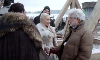 George Lucas sur le tournage de Game Of Thrones saison 8. Pour parler Star Wars ?