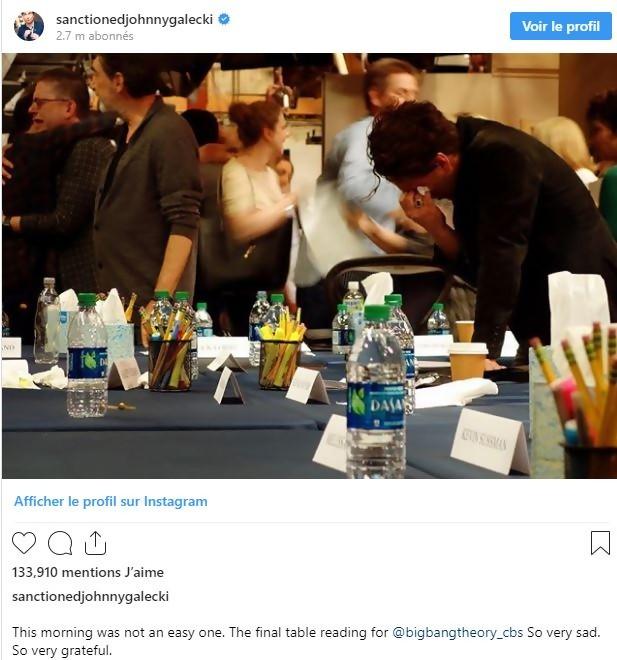Les stars de The Big Bang Theory partagent l'émouvante fin de tournage