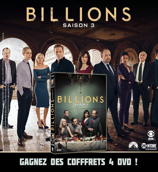 JEU CONCOURS BILLIONS saison 3 : des coffrets 4 DVD à gagner