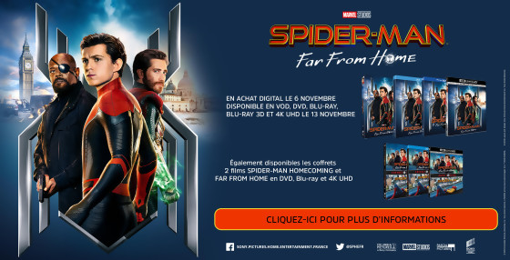 JEU CONCOURS SPIDER-MAN FAR FROM HOME : des Blu-Ray et des goodies à gagner