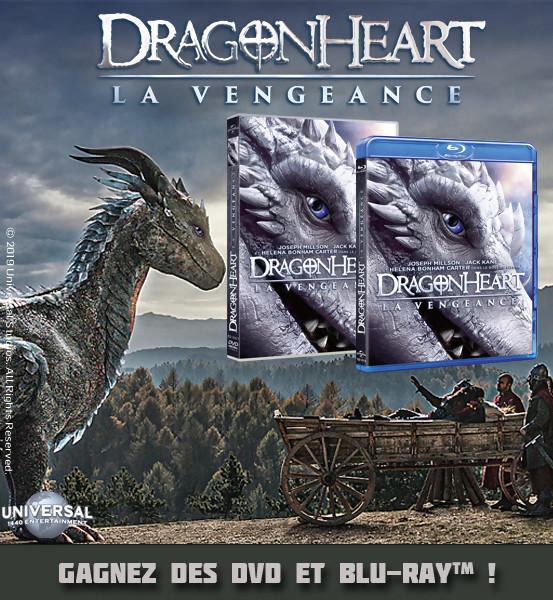 JEU CONCOURS DRAGONHEART LA VENGEANCE : DVD et Blu-Ray à gagner