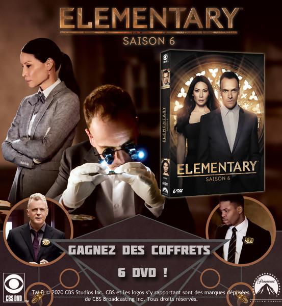 JEU CONCOURS ELEMENTARY SAISON 6 : des coffrets DVD à gagner