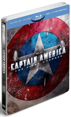 Coffret Captain America - Super Combo Blu-ray 3D + Blu-ray 2D + DVD + Copie digitale