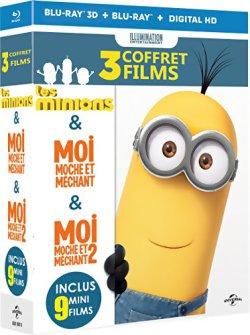 Les Minions + Moi, Moche Et Méchant 1& 2 - Blu Ray 3D