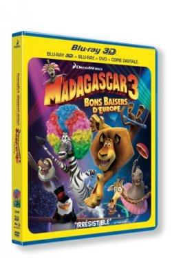 Madagascar 3 : bons baisers d'europe - Blu Ray 3D