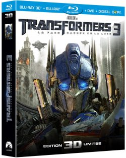 Transformers 3 Combo Blu Ray 3D