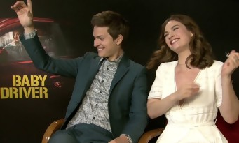 ANSEL ELGORT & LILY JAMES sing WHITNEY HOUSTON and it's AWESOME - BABY DRIVER